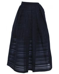 Tibi Ribbon Organza Full Skirt - Lyst
