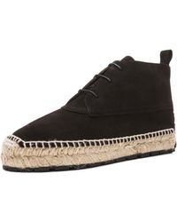 Balenciaga Espadrille Suede Ankle Boots - Lyst