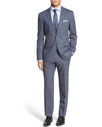 BOSS | 'jewels/linus' Trim Fit Solid Wool Suit | Lyst