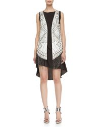 Haute Hippie Silk Charmeuse Beaded Vest - Lyst