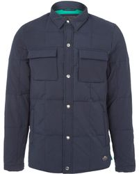 Penfield Navy Loring Shirt Style Down Jacket - Lyst
