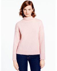 Kate Spade Shimmer Turtleneck pink - Lyst