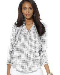 Ralph Lauren Lauren Polka Dot Shirt - Lyst