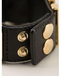 Moschino Logo Plaque Bracelet - Lyst