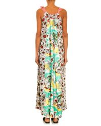 Easton Pearson Take Away Vara Contrast-Print Maxi Dress - Green