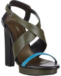 Maiyet - Crisscross-Strap Platform Sandals - Lyst