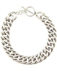 Saint Laurent - Chain Necklace - Lyst