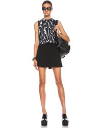 Proenza Schouler Flock Printed Crepe Cropped Tank - Lyst