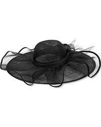 Armani Lace-detail Occasion Hat - Black