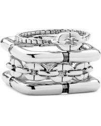 Diane von Furstenberg - Chain Link Silver Ring Set - Lyst
