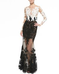 Zuhair Murad Lace-Embroidered Sheer Gown - Lyst