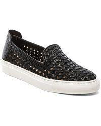 Rachel Zoe Burke Leather Slip-on Sneakers - Lyst