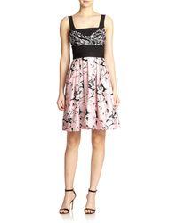 Diane von Furstenberg Sita Wool & Silk Printed Fit-&-Flare Dress - Lyst