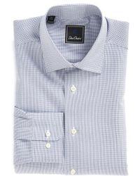 David Donahue Regular Fit Check Dress Shirt - Lyst