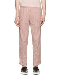 Palm Angels | Red And White Classic Seersucker Pants | Lyst