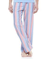 Derek Rose Striped Lounge Pants - Lyst