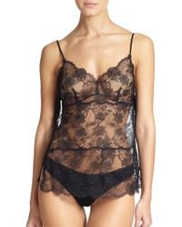 Natori Sheer Lace Camisole - Lyst