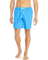 Moschino Blue Embroidered Logo Board Shorts - Lyst