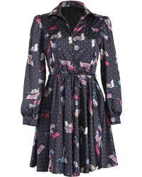 Cutie Horse Print Dress - Lyst