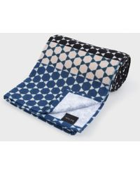 Paul Smith Navy And Black 'Moroccan Tile' Towel - Lyst