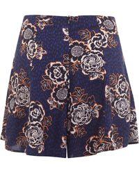 Miss Selfridge Petite Floral Skort - Blue