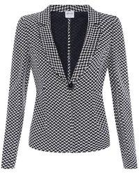 Armani Knitted Herringbone Blazer - Lyst
