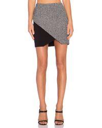 Fifteen Twenty - Combo Tweed Angle Skirt - Lyst