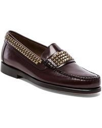 Caminando Brown Studs Loafer - Lyst