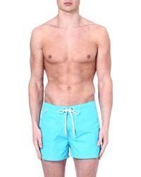 Sundek Fixed Waistband Swim Shorts Cornflower Blue - Lyst