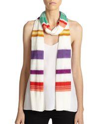 Missoni Striped Scarf white - Lyst