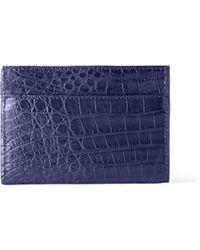 Santiago Gonzalez Crocodile Cardholder - Blue