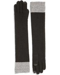 Echo - Colorblock Cashmere Gloves - Lyst