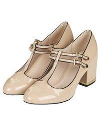 Topshop Jenna Patent T-bar Mid Shoes - Lyst