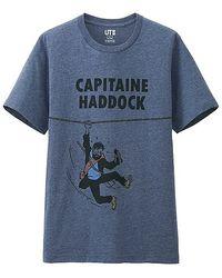 Uniqlo Men Tintin Graphic Short Sleeve T Shirt - Lyst