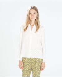 Zara Top with Fine Pleats At The Back - Lyst