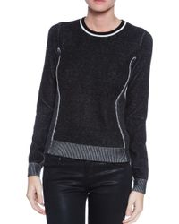 Rag & Bone Black Taylor Sweater - Lyst