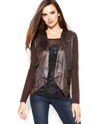 Inc International Concepts Draped Animal-print Cardigan - Lyst