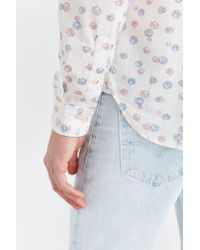 Koto - Exploding Dots Linen Button-down Shirt - Lyst