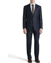 Ermenegildo Zegna Bold Pinstripe Suit - Lyst