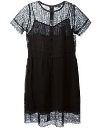Marc Jacobs Cut Out Embroidered Dress - Lyst