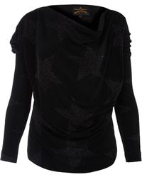 Vivienne Westwood Anglomania Black New Drape Star Top - Lyst