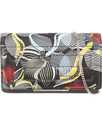 Fendi Orchid-Print Tube Clutch Bag - Lyst