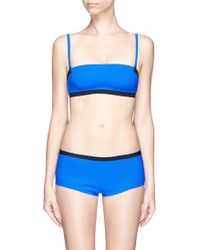 T By Alexander Wang Reversible Bonded Tricot Bandeau - Lyst