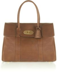 Mulberry The Bayswater Textured-leather Bag - Lyst