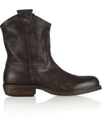 Fiorentini + Baker Cruna Oiled-leather Ankle Boots - Lyst