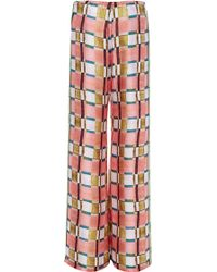 Clover Canyon Painted Plaid Wide Leg Trouser - Green