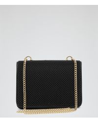 Reiss Savannah Beaded Clutch Bag - Lyst