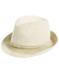 Hinge - Mixed Weave Trilby Hat - Lyst