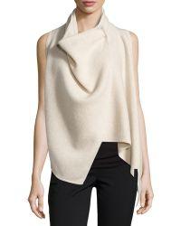 Donna Karan New York Asymmetric Cashmere Vest - Lyst
