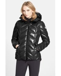 Moncler 'Badete' Hooded Down Puffer Coat black - Lyst